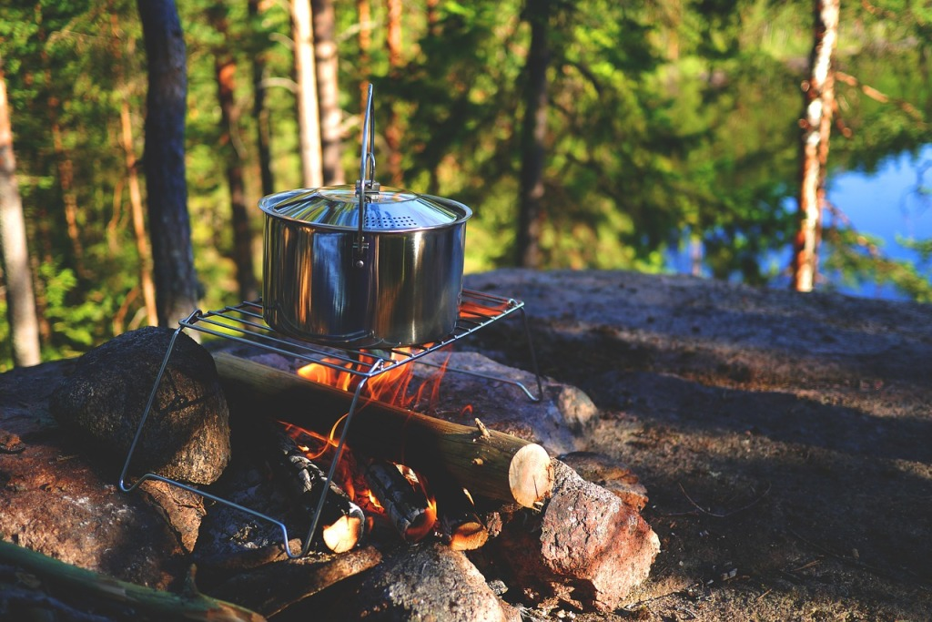 Kamperen backpacken koken outdoor hiken hiking
