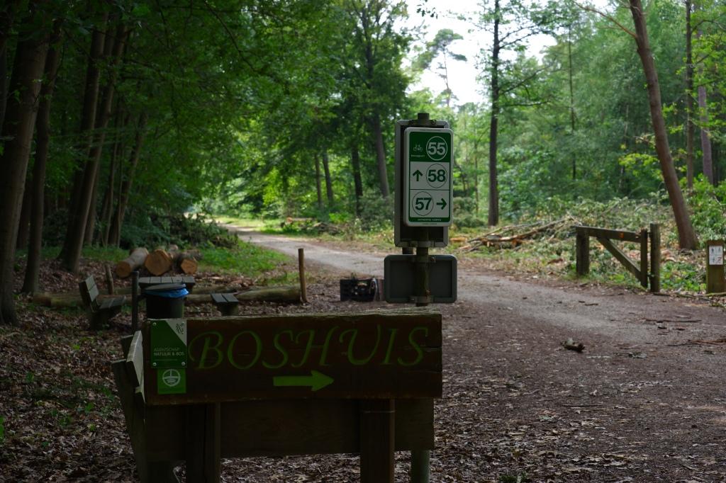 wandelroute wandelknooppunt knooppunt ravelse gewestbossen natuurgebied boshuis