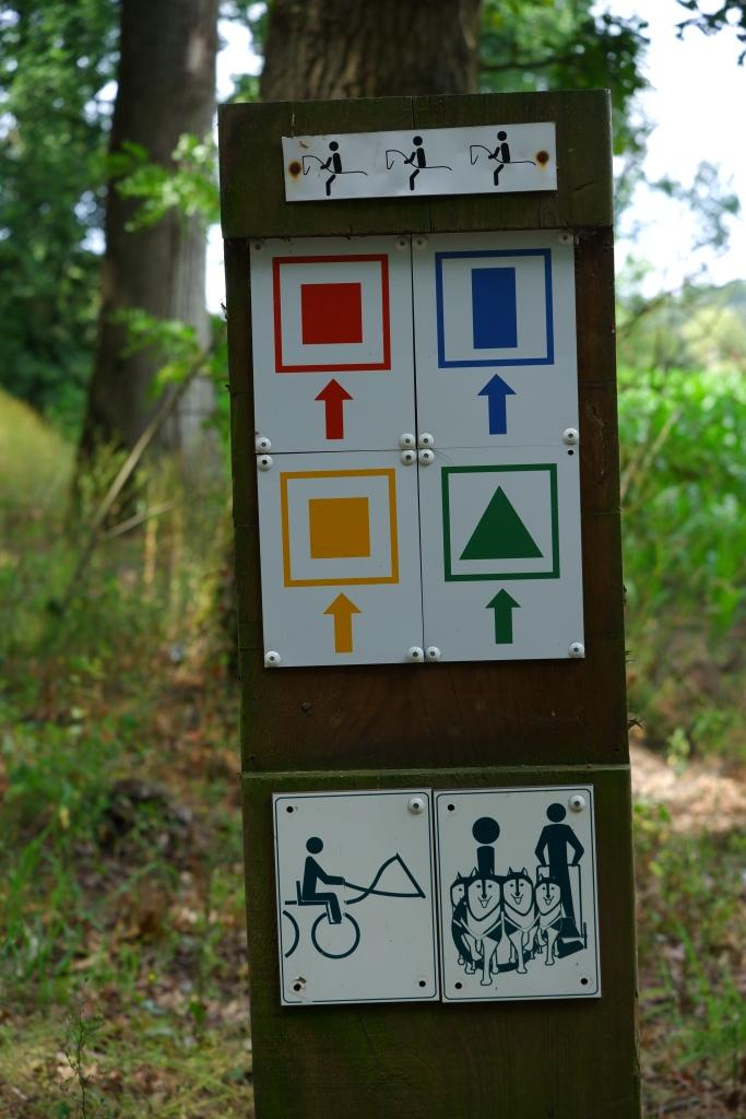 wandelroute wandelknooppunt knooppunt ravelse gewestbossen natuurgebied