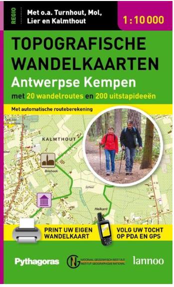 wandelkaart Antwerpse Kempen