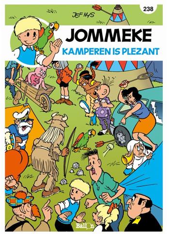 jommeke stripboek plezant kamperen