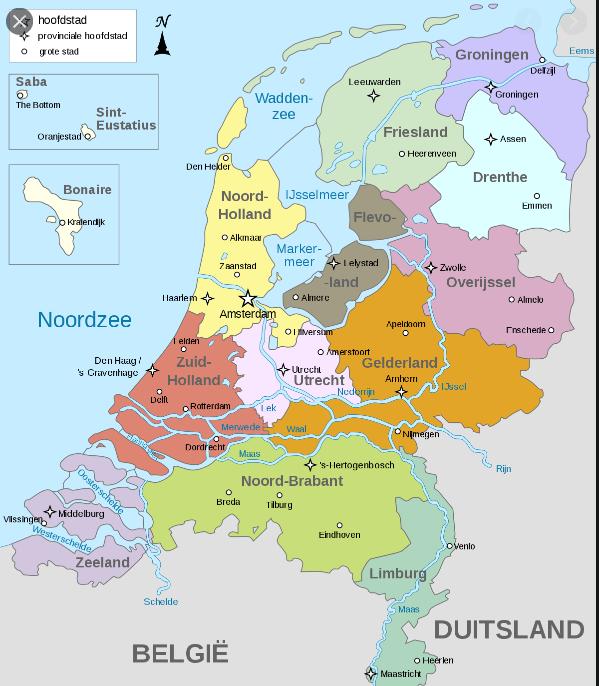 kaart Nederland weetjes Benelux