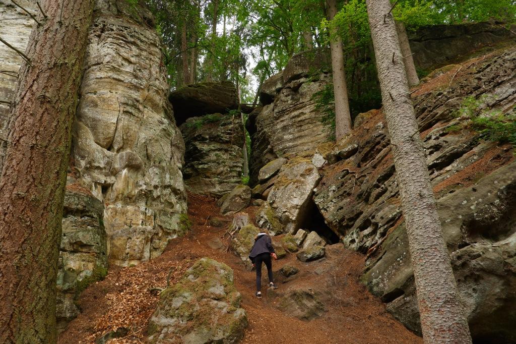 wandelroute wandeling donkere kloven Consdorf Mullerthal bergen