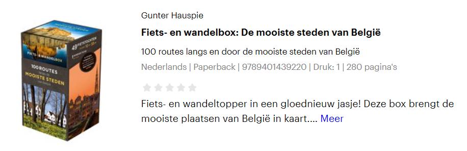 wandelbox wandelkaart fietskaart België